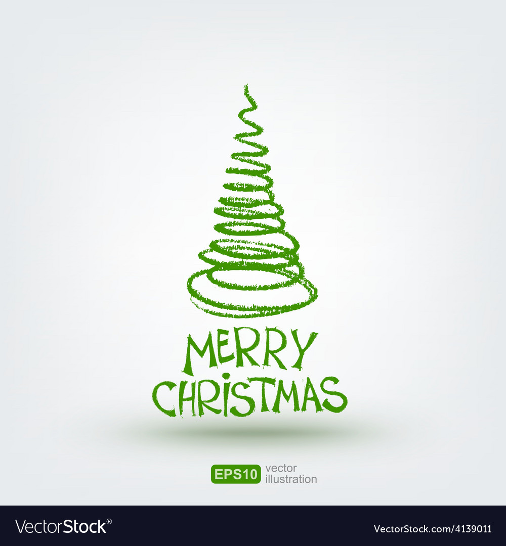 Christmas greeting card hand drawn design element vector | Price: 1 Credit (USD $1)