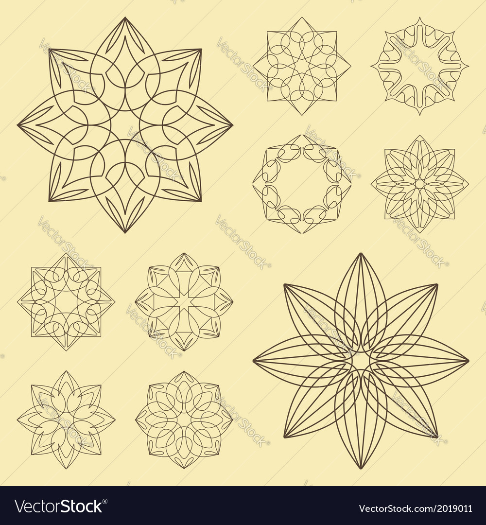 Collection of different graphic elements for desig vector | Price: 1 Credit (USD $1)