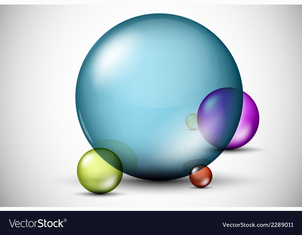 Colorful 3d glass balls vector | Price: 1 Credit (USD $1)