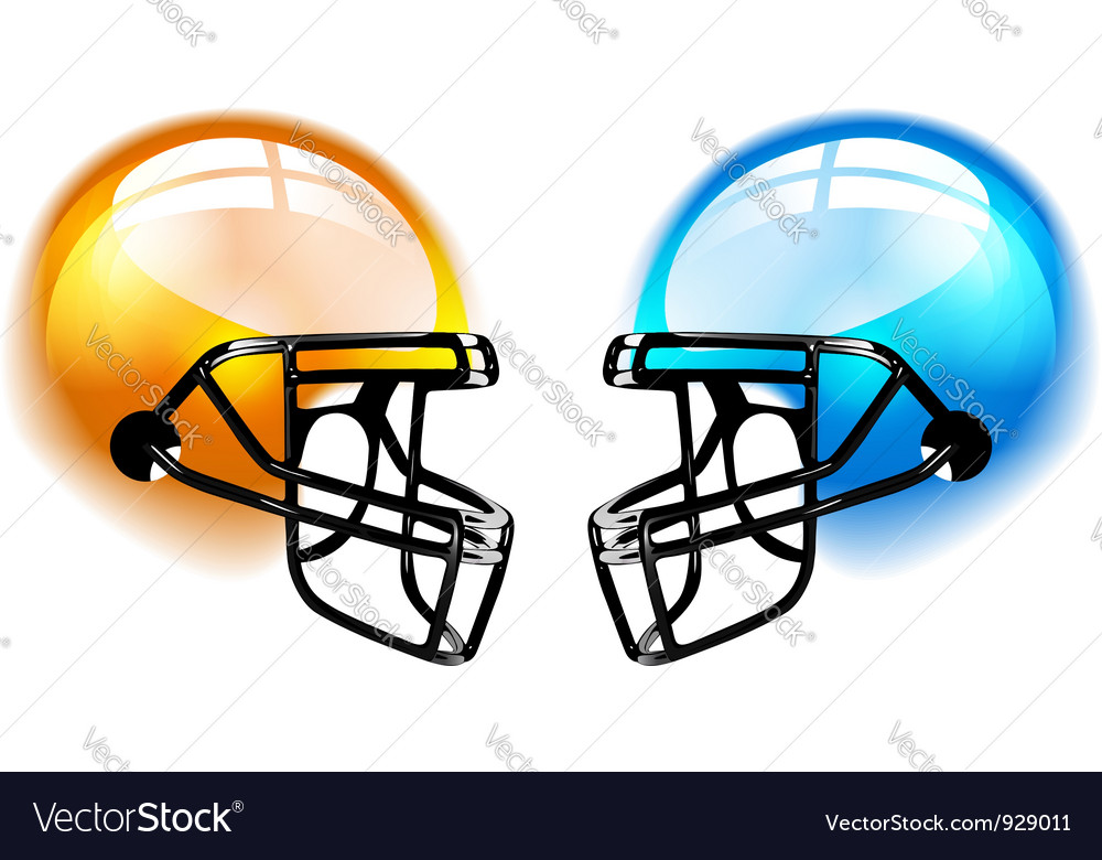 Football helmets on white vector | Price: 3 Credit (USD $3)