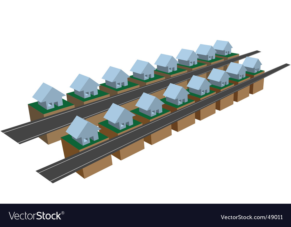 Houses on blocks vector | Price: 1 Credit (USD $1)