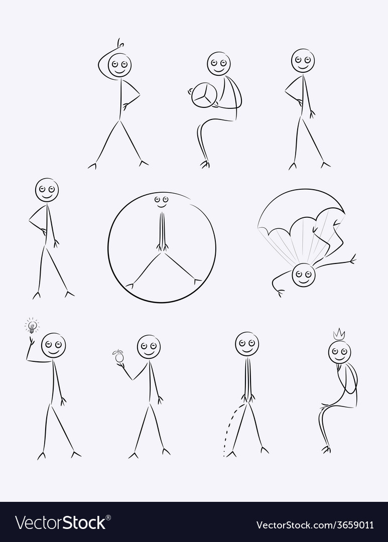 Outline sketch cartoon vector | Price: 1 Credit (USD $1)