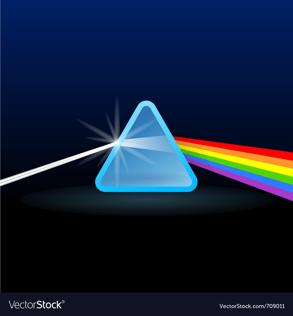 Rainbow light separation vector | Price: 1 Credit (USD $1)