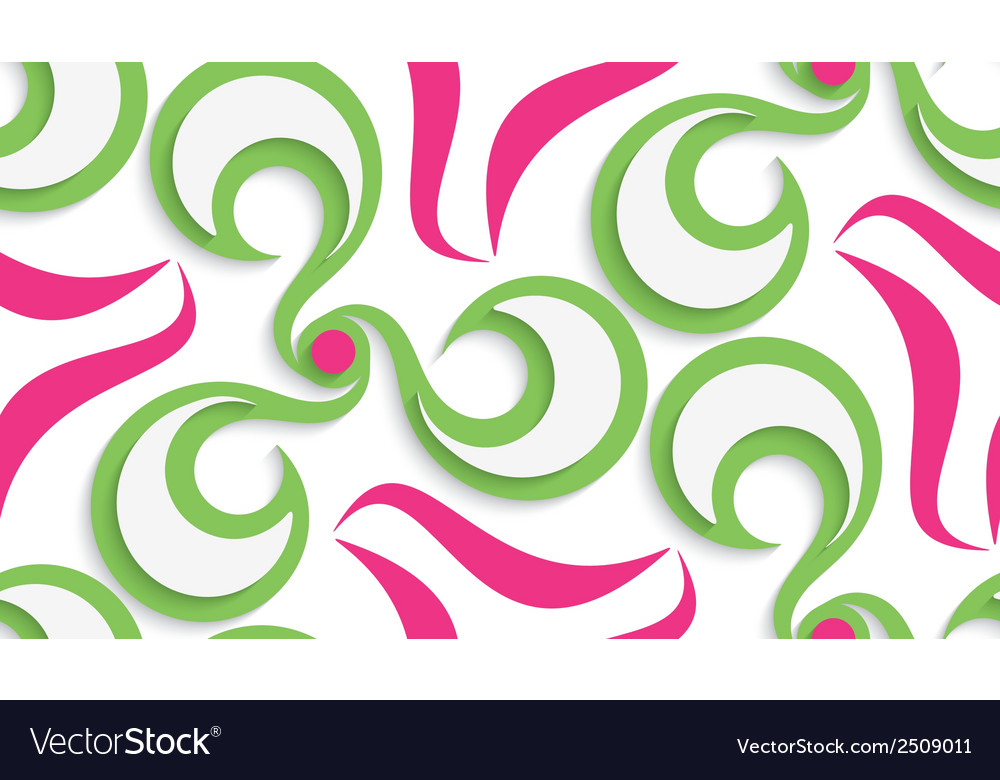 Seamless green and pink background with cut out of vector | Price: 1 Credit (USD $1)