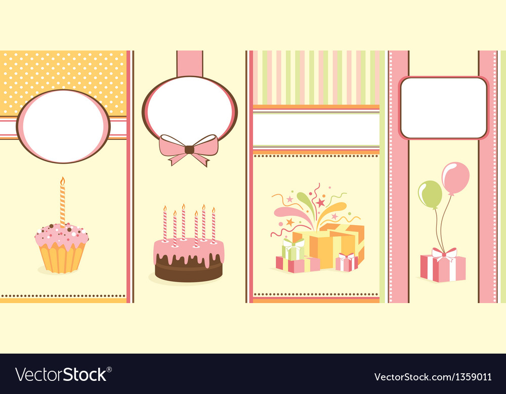 Set of celebration banners vector | Price: 1 Credit (USD $1)