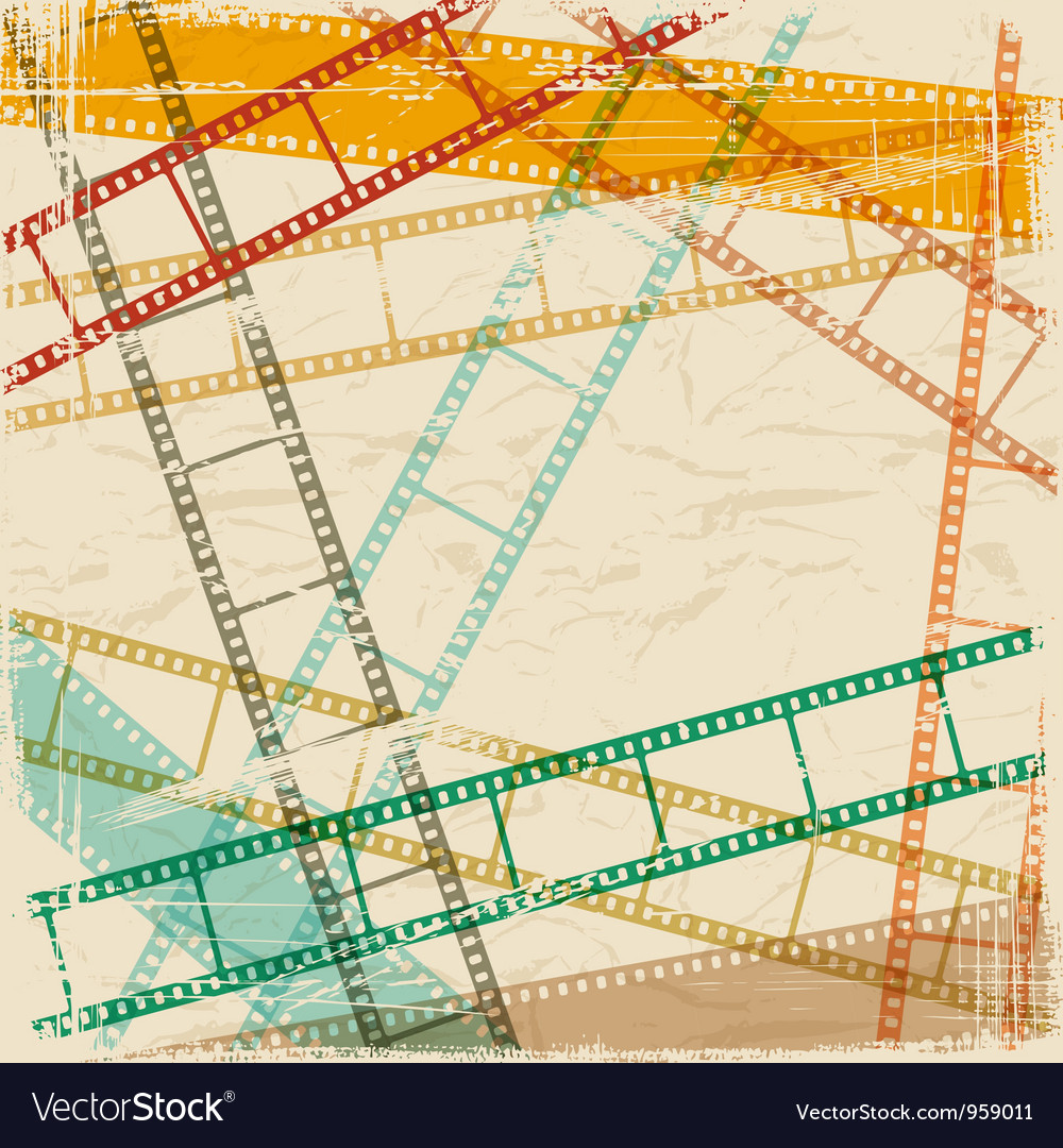 Vintage scratch background with film frame eps 10 vector | Price: 1 Credit (USD $1)