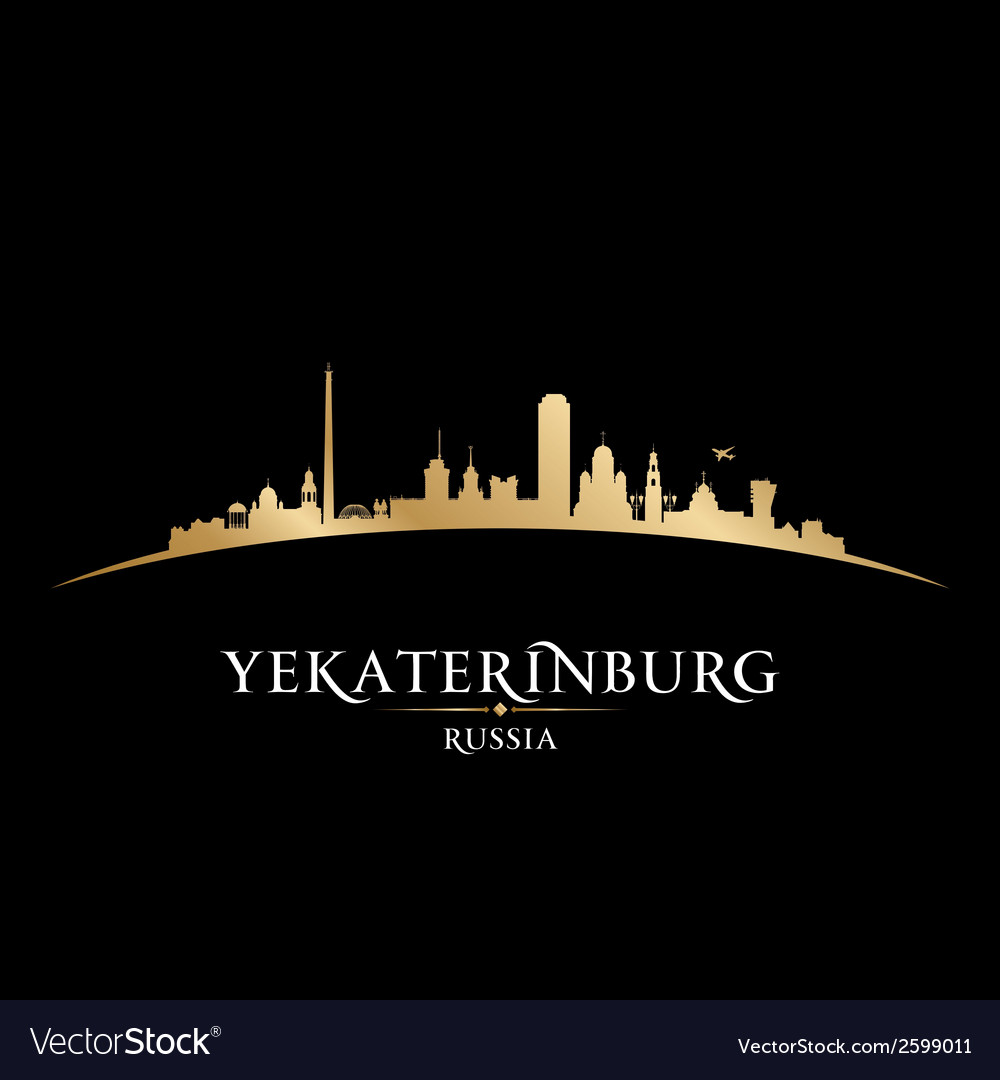 Yekaterinburg russia city skyline silhouette vector | Price: 1 Credit (USD $1)