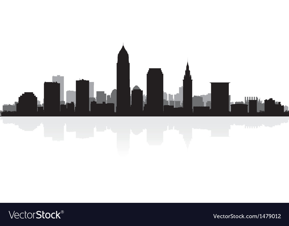 Cleveland usa city skyline silhouette vector | Price: 1 Credit (USD $1)
