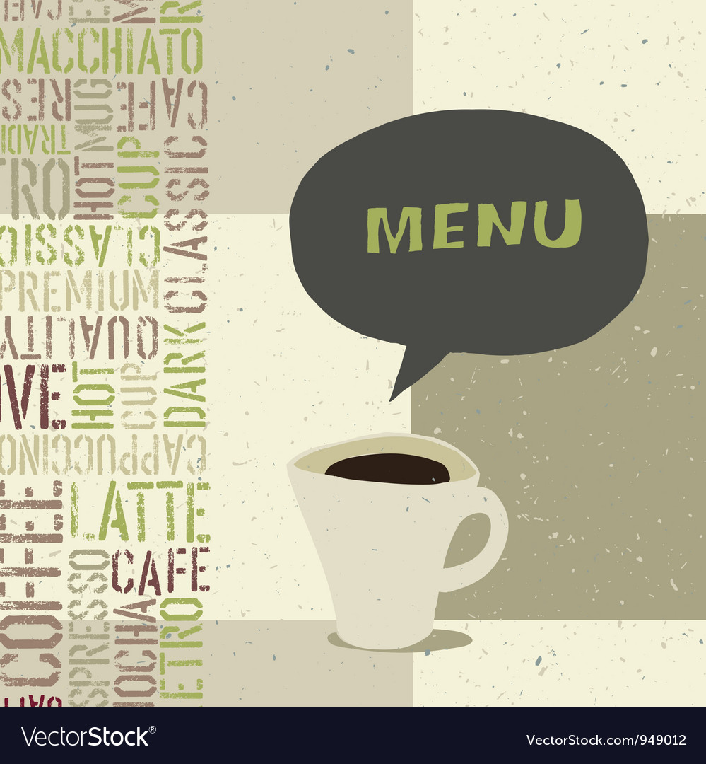 Coffeehouse menu template vector | Price: 1 Credit (USD $1)