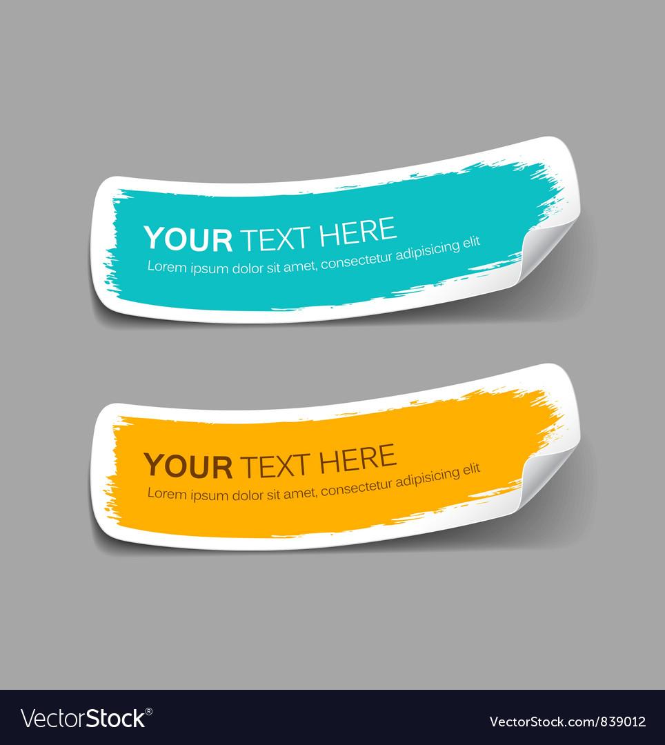 Colorful label paper brush stroke vector | Price: 1 Credit (USD $1)