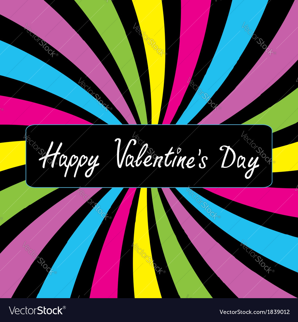 Colorful party card happy valentines day vector | Price: 1 Credit (USD $1)