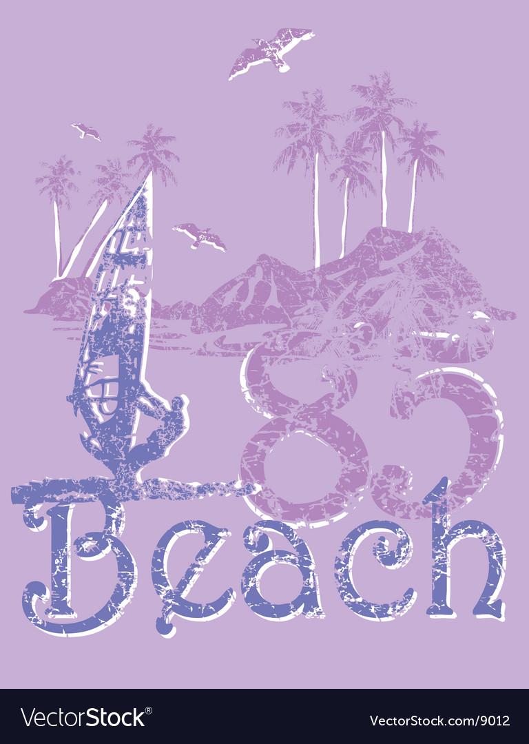 Design beach vector