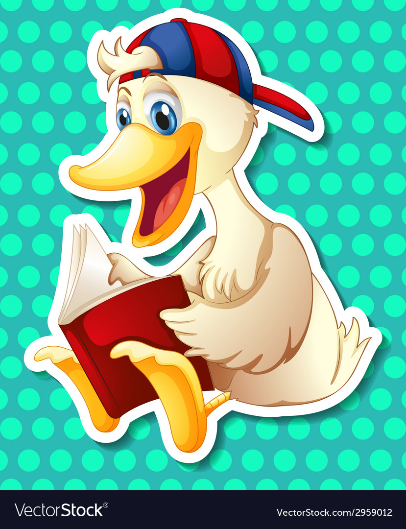 Duck and book vector | Price: 1 Credit (USD $1)