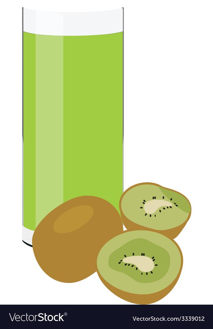 Kiwi juice vector | Price: 1 Credit (USD $1)