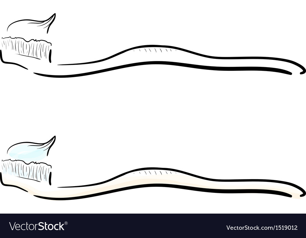 Tooth brush vector | Price: 1 Credit (USD $1)