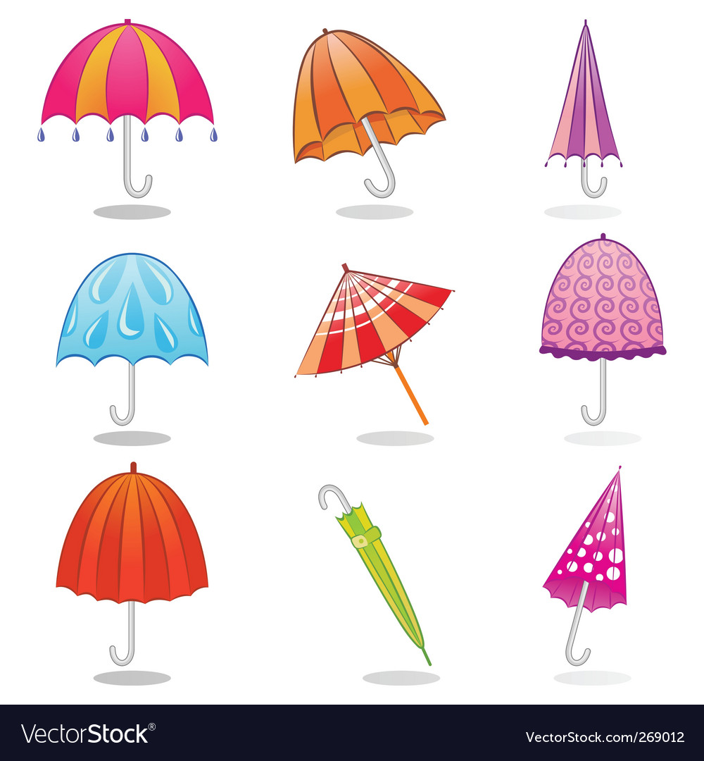 Umbrella clip art vector | Price: 1 Credit (USD $1)