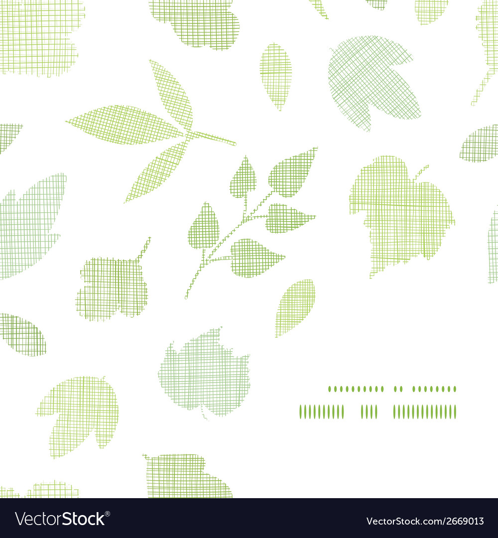 Abstract textile texture frame corner pattern vector | Price: 1 Credit (USD $1)