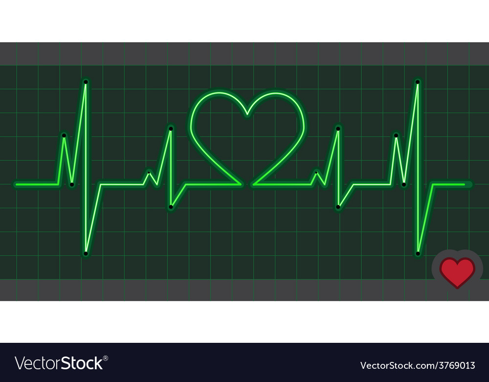 Cardiogram heart love vector | Price: 1 Credit (USD $1)