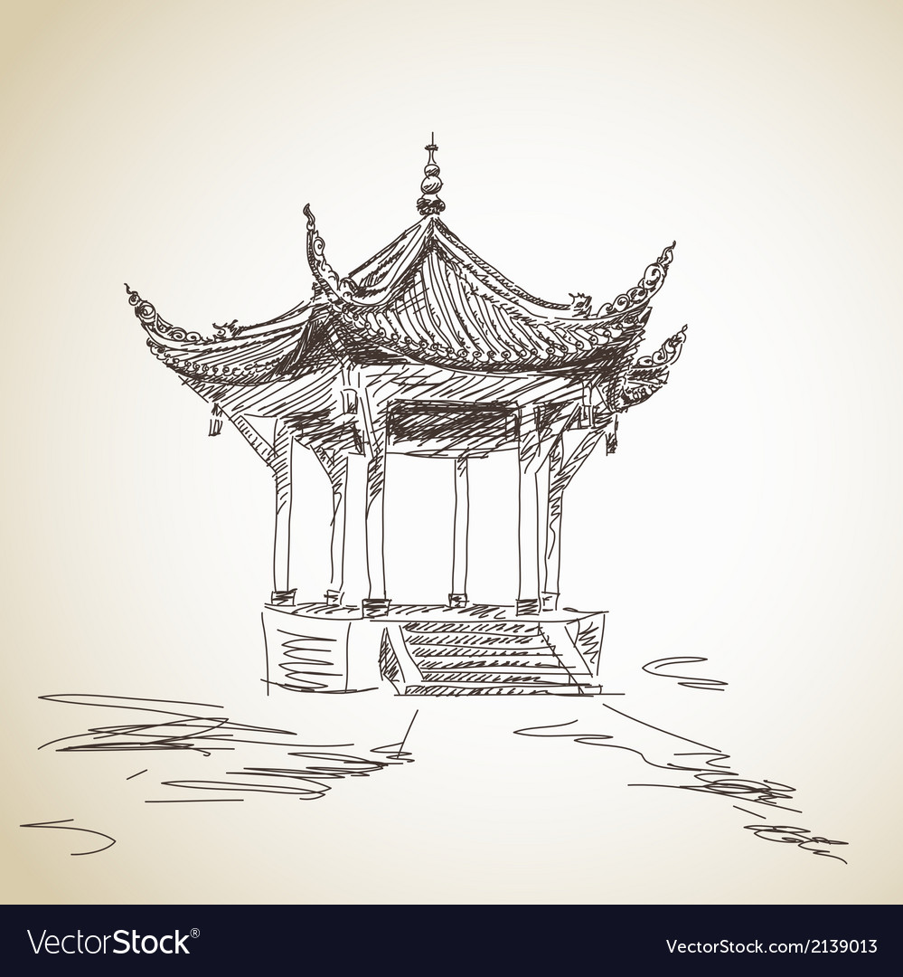 Chinese pavilion vector | Price: 1 Credit (USD $1)