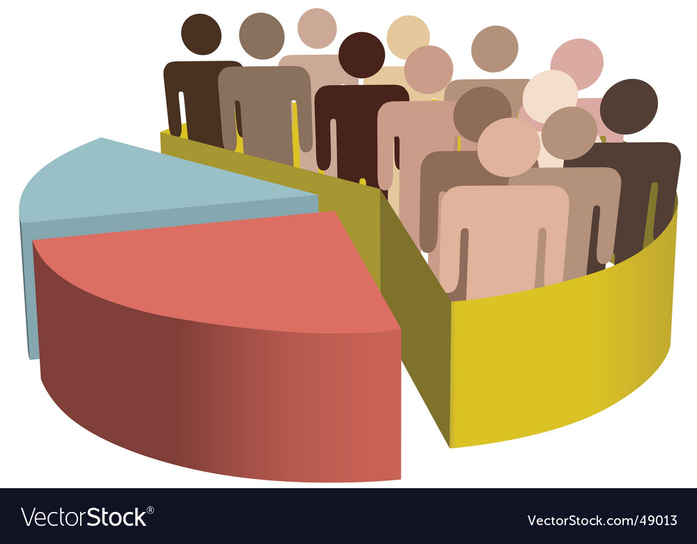 Diverse group of people vector | Price: 1 Credit (USD $1)