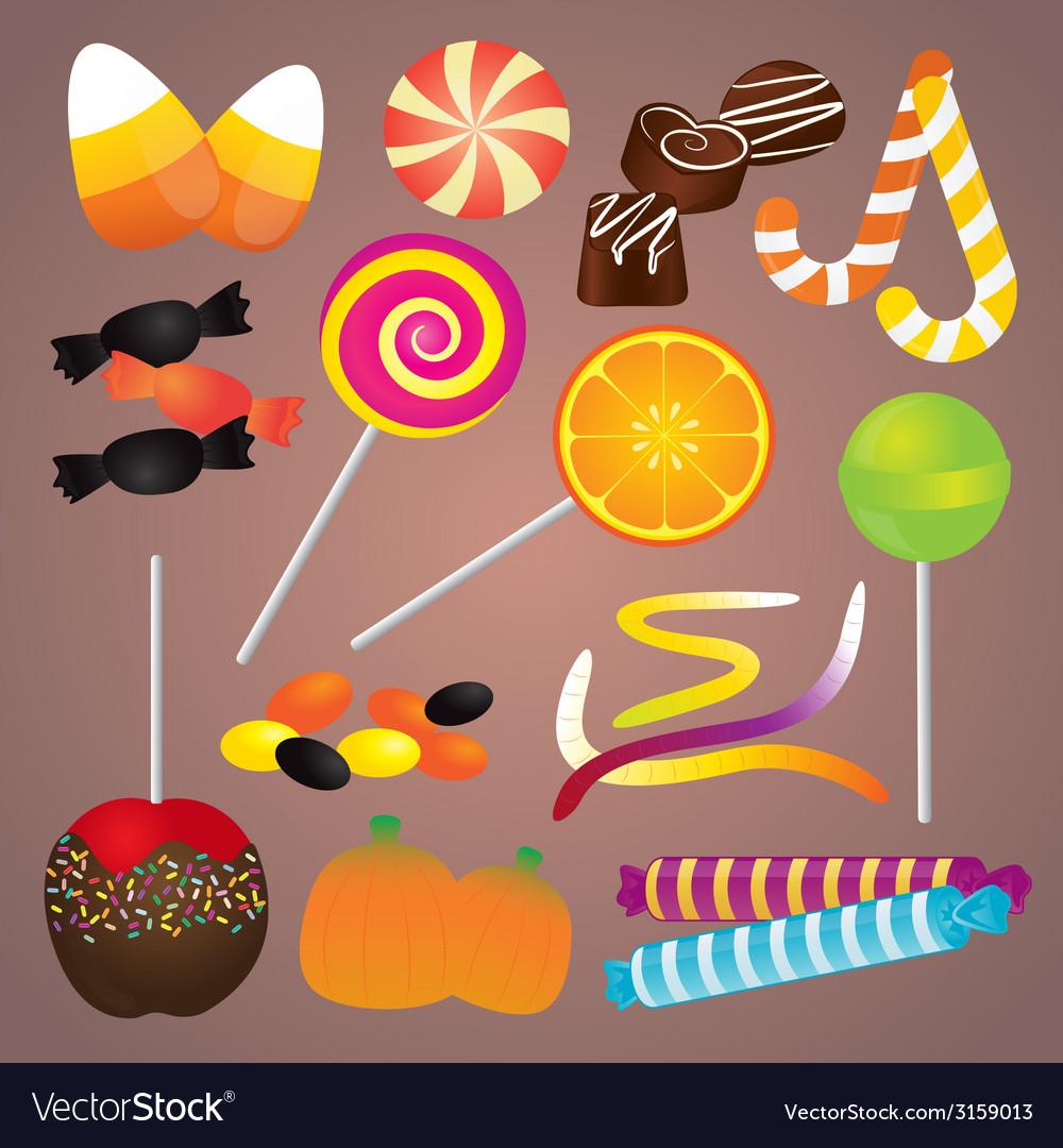 Halloween candy set vector | Price: 1 Credit (USD $1)