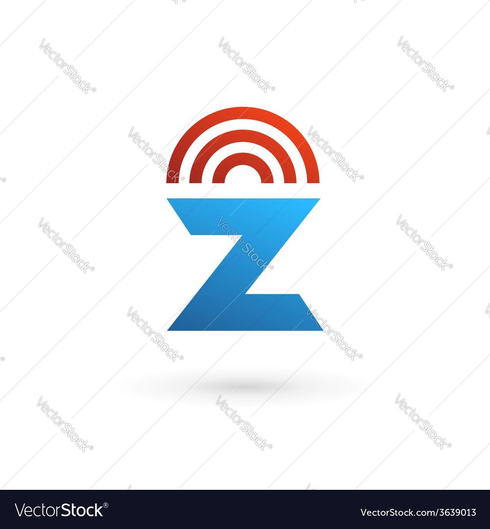 Letter z wireless logo icon design template vector | Price: 1 Credit (USD $1)