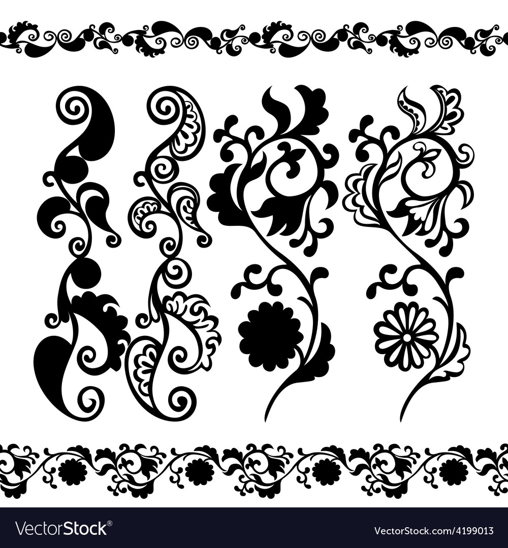 Pattern black seamless banner vector   Price: 1 Credit (USD $1)