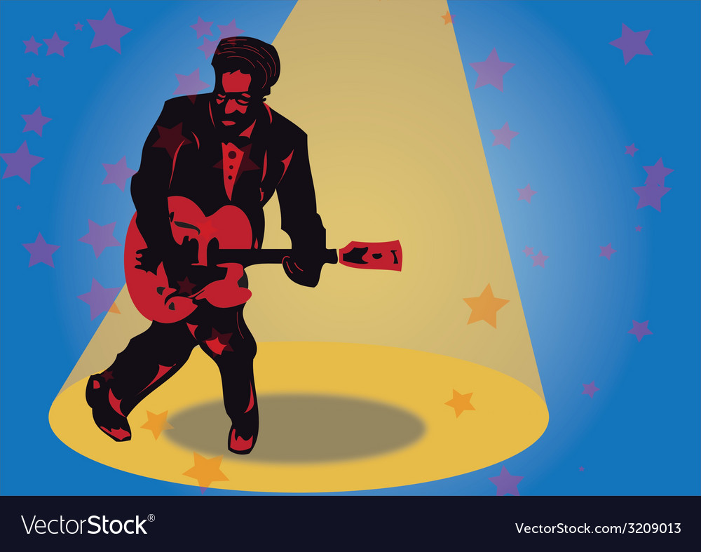 Rock guitarist vector | Price: 1 Credit (USD $1)