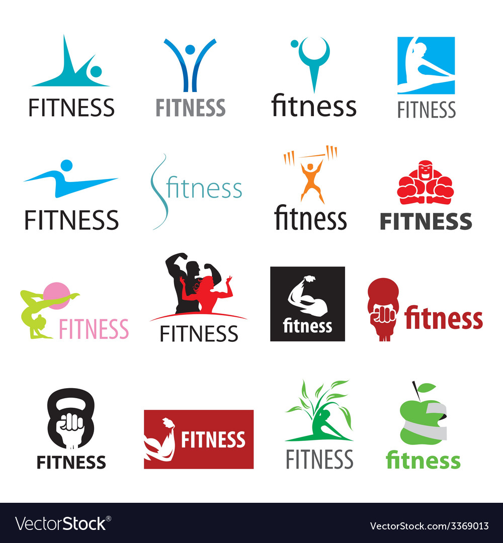 Set of logos fitness and sports vector | Price: 1 Credit (USD $1)