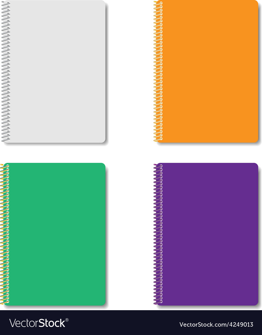 Set of multicolored notepads vector   Price: 1 Credit (USD $1)