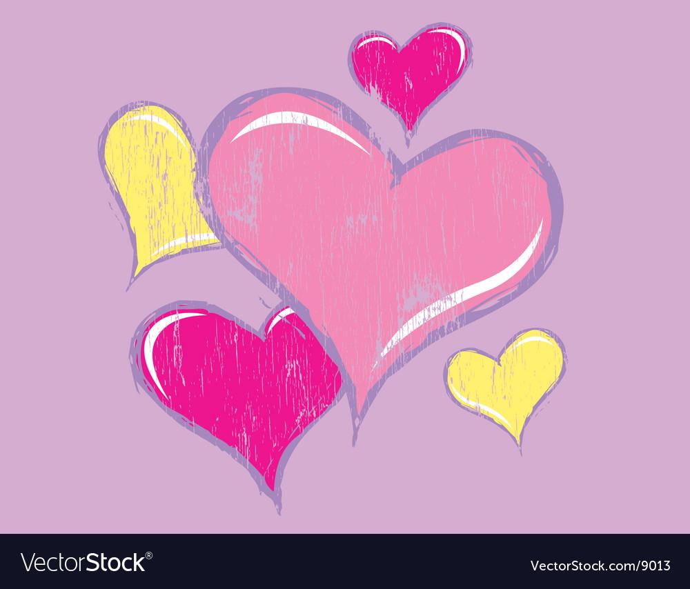 Worn away heart vector | Price: 1 Credit (USD $1)