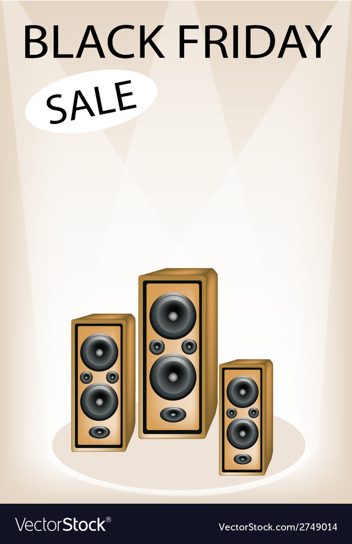 Audio speaker shouting word black friday sale vector | Price: 1 Credit (USD $1)