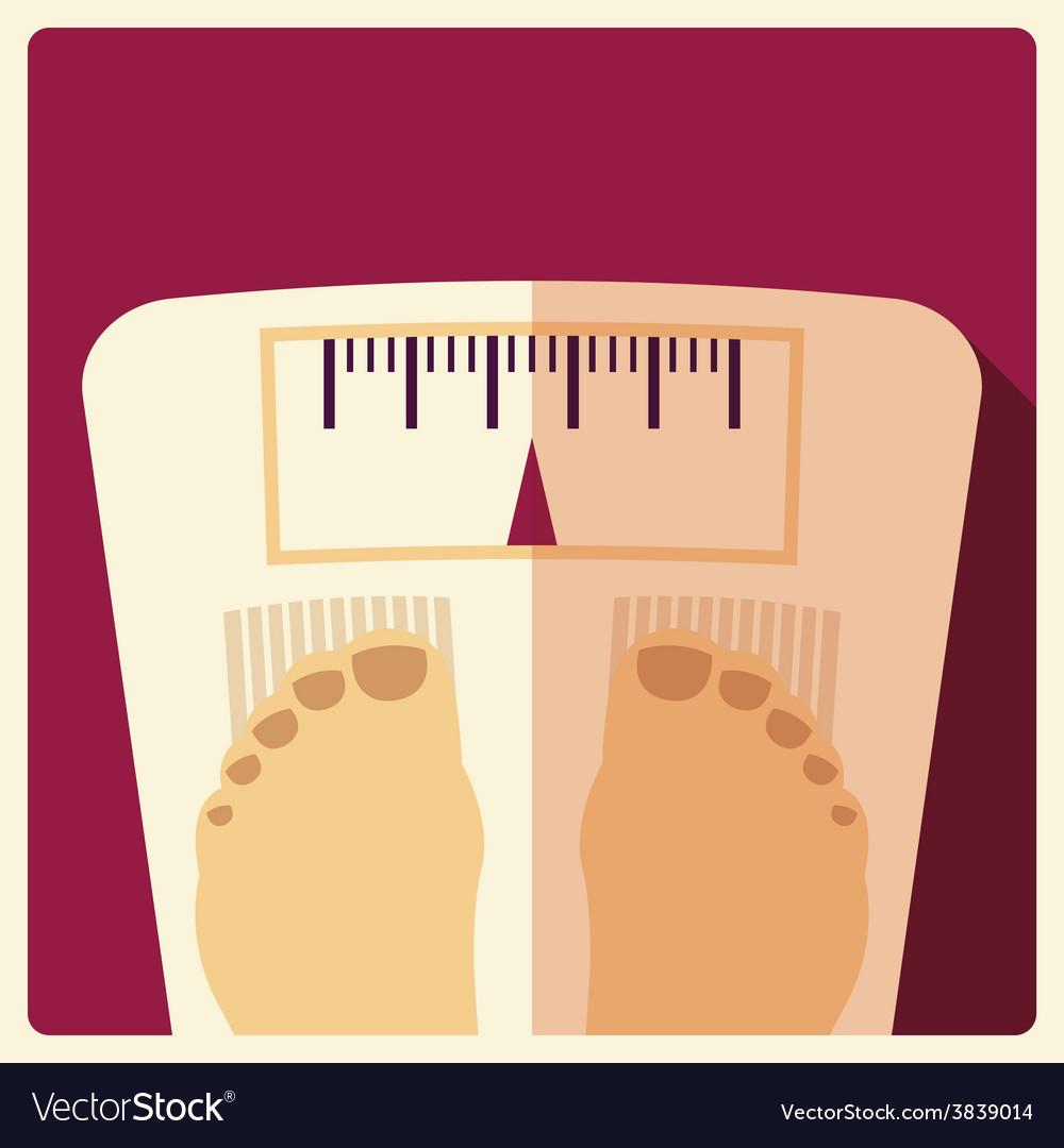 Bathroom weight scales flat design vector | Price: 1 Credit (USD $1)