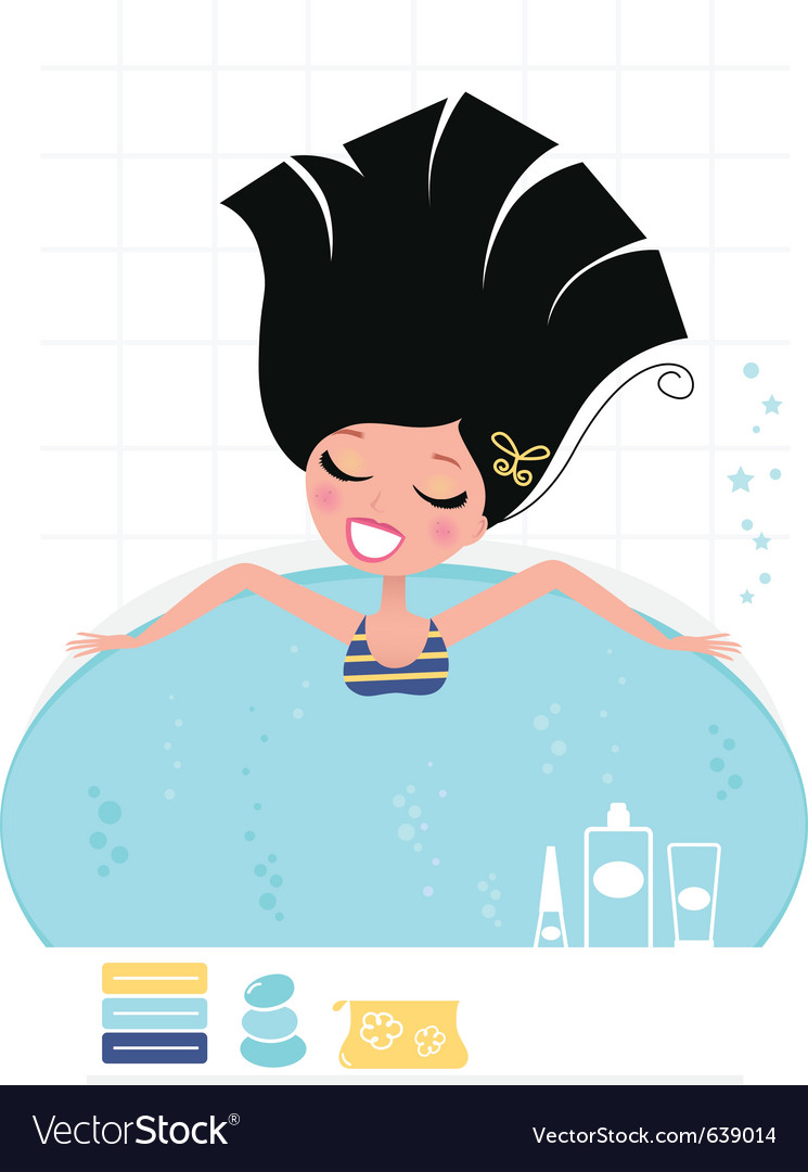 Beauty bath vector | Price: 3 Credit (USD $3)