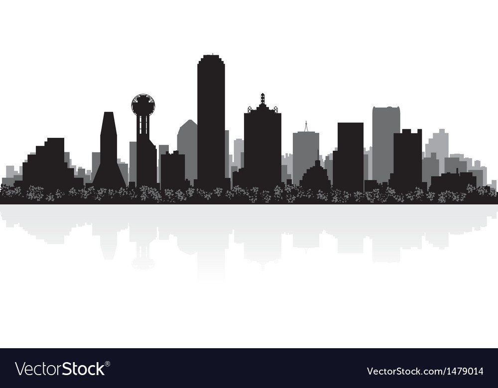 Dallas usa city skyline silhouette vector | Price: 1 Credit (USD $1)