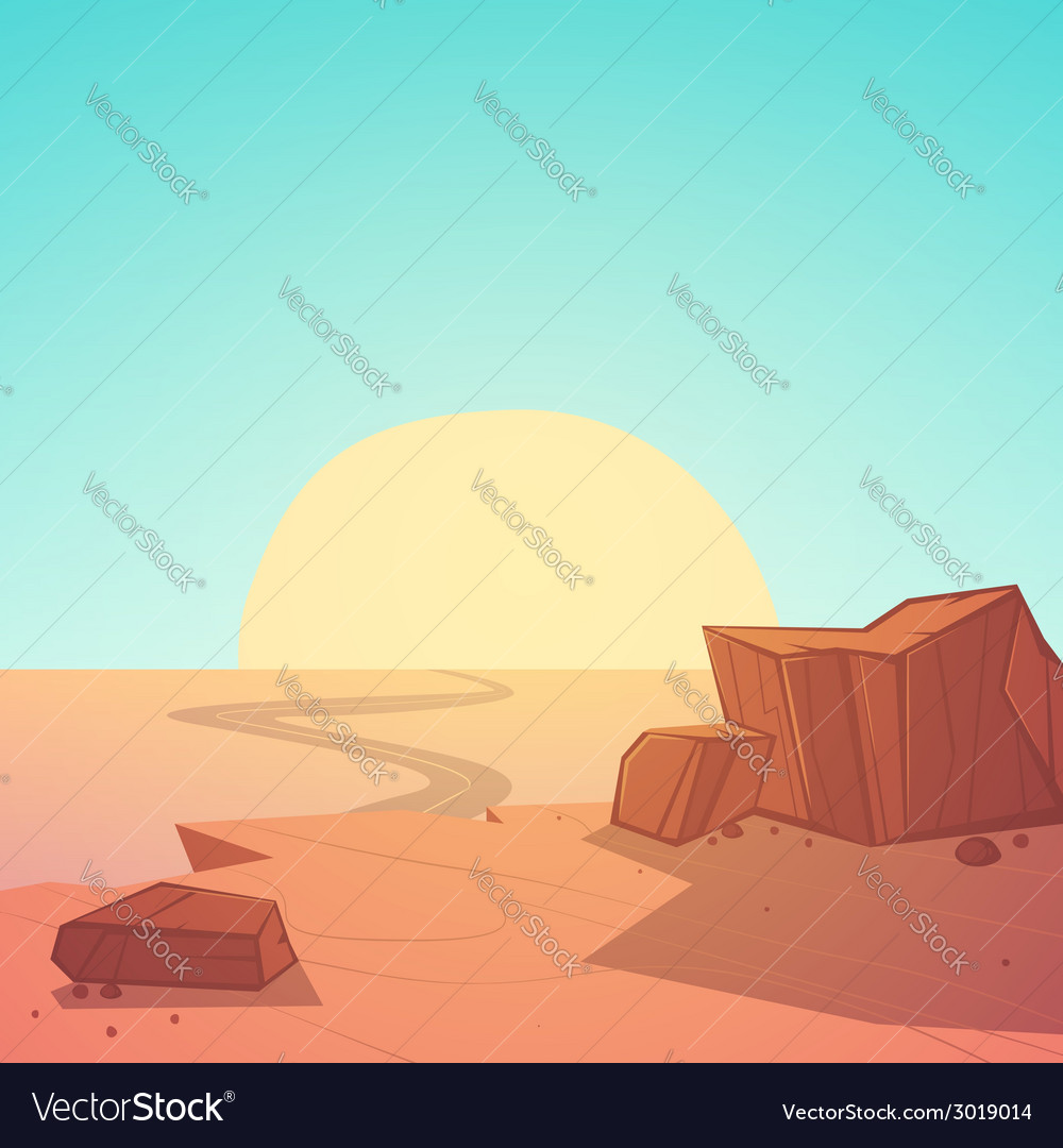 Desert road vector | Price: 1 Credit (USD $1)