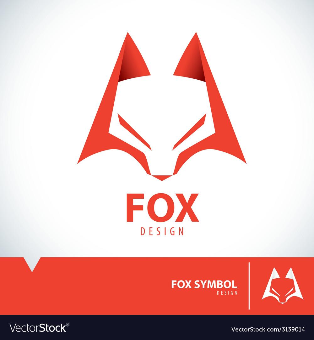 Fox symbol icon vector | Price: 1 Credit (USD $1)
