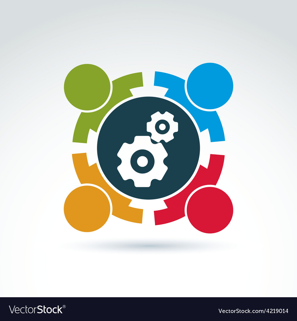 Gears - enterprise system theme internat vector | Price: 1 Credit (USD $1)