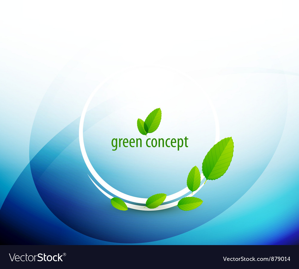 Green circle nature concept vector | Price: 1 Credit (USD $1)