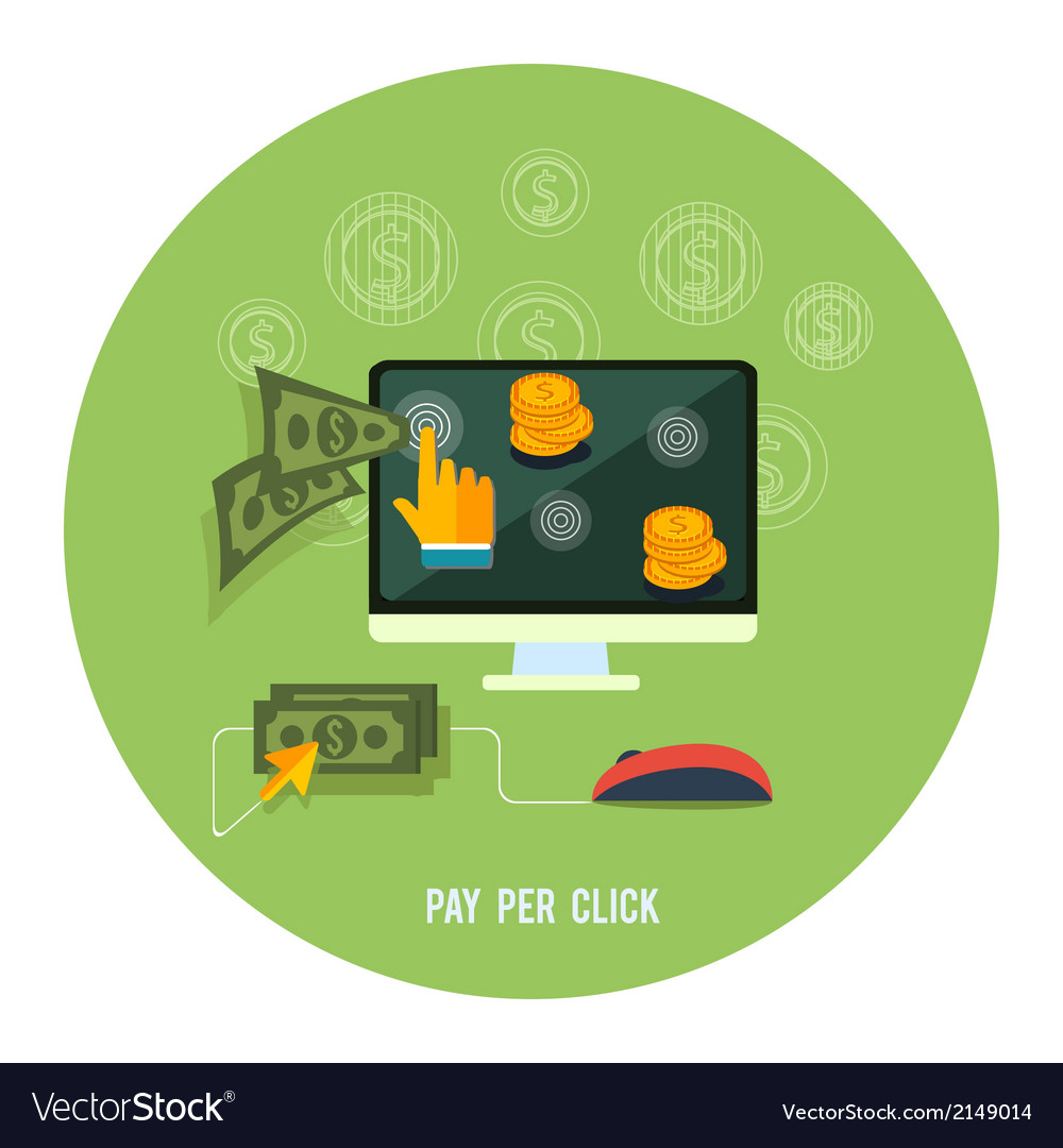 Pay per click internet advertising model vector   Price: 1 Credit (USD $1)