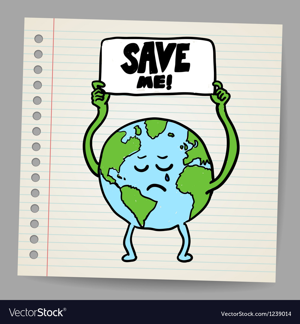 Save the earth design template  eps10 vector | Price: 1 Credit (USD $1)