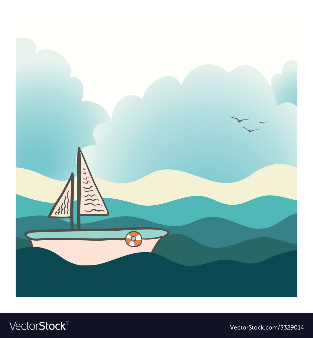 Shiplighthouse17 vector | Price: 1 Credit (USD $1)