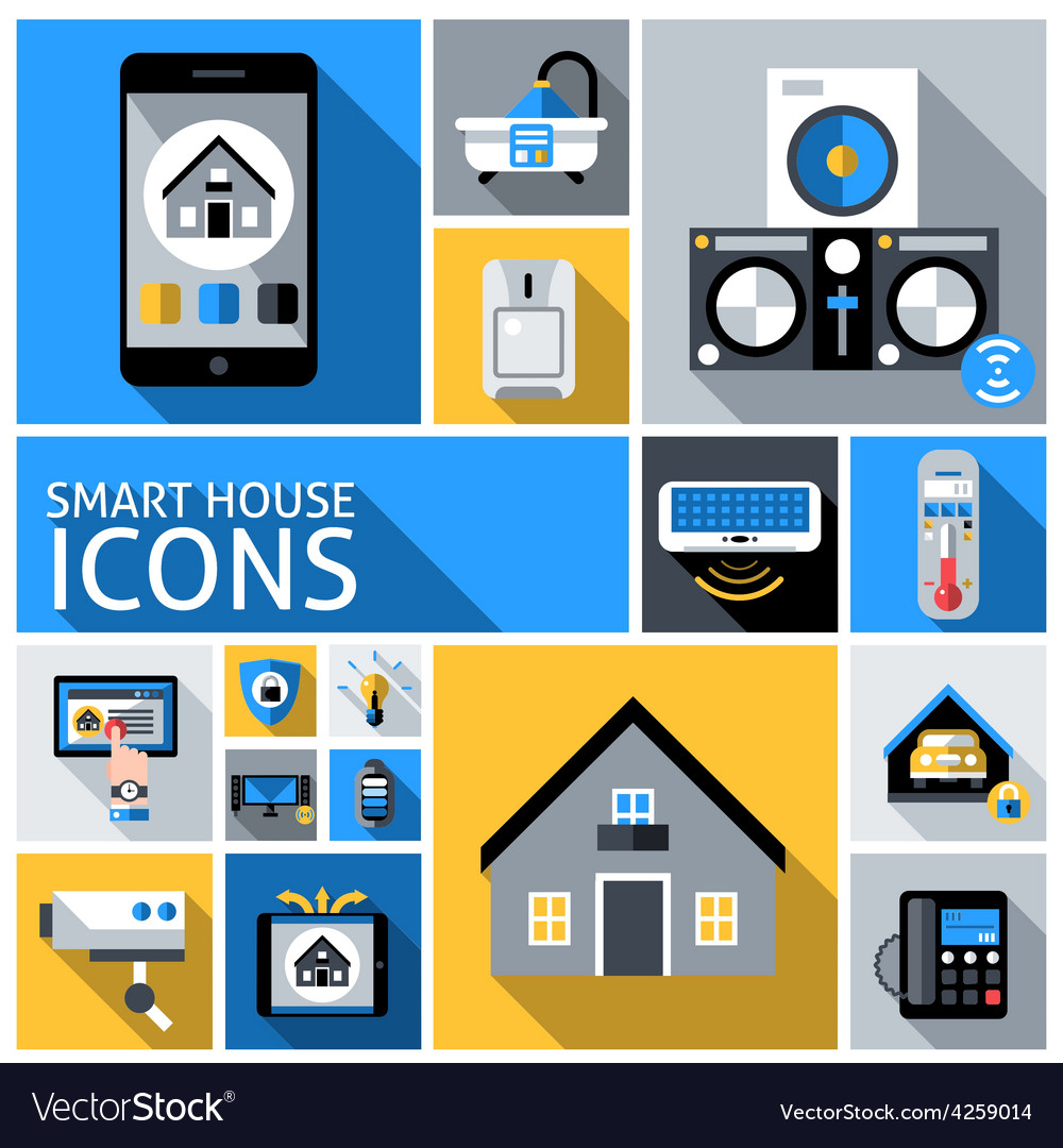 Smart house icons vector | Price: 1 Credit (USD $1)