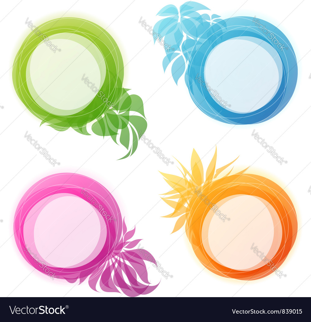 Abstract colorful floral and foliage bubbles vector | Price: 1 Credit (USD $1)