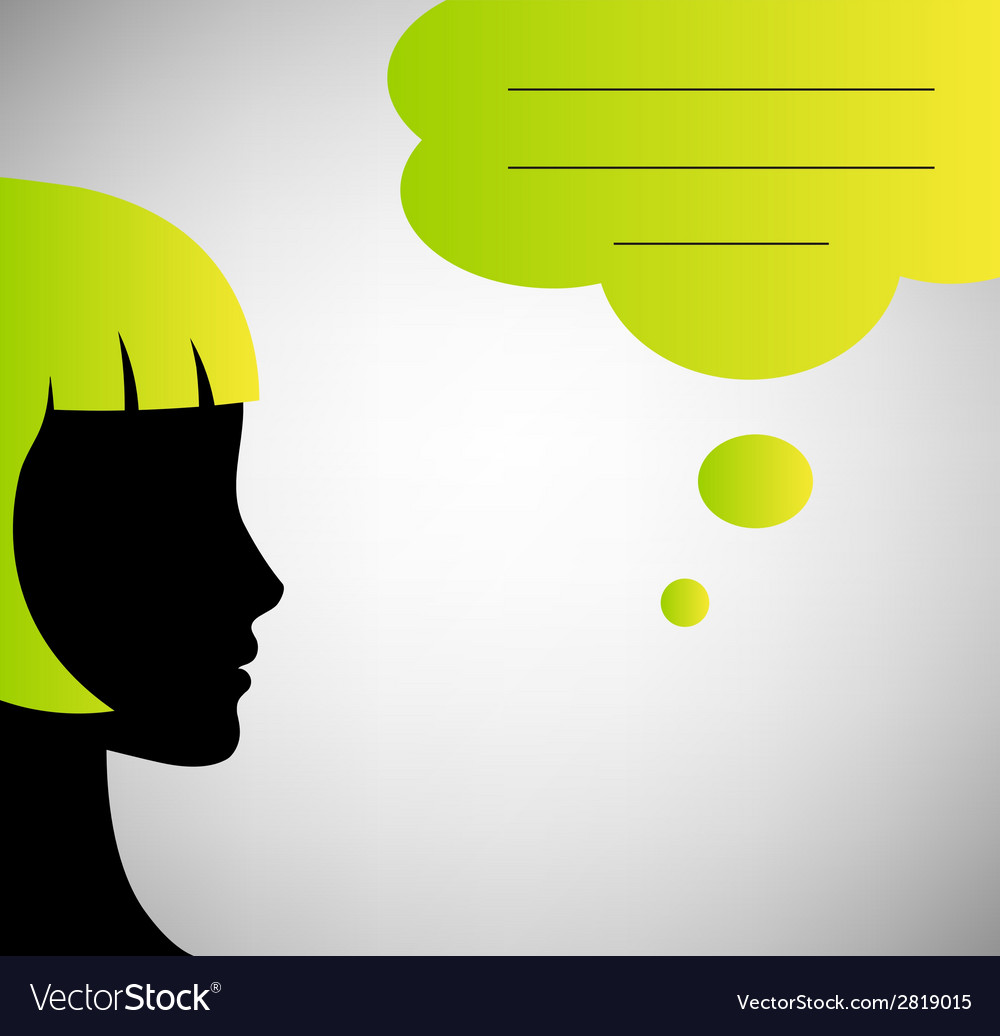 Abstract speaker silhouette with speech bubble vector | Price: 1 Credit (USD $1)