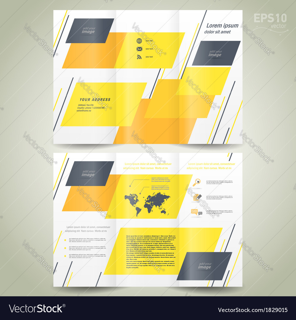 Brochure design geometric abstract vector | Price: 1 Credit (USD $1)