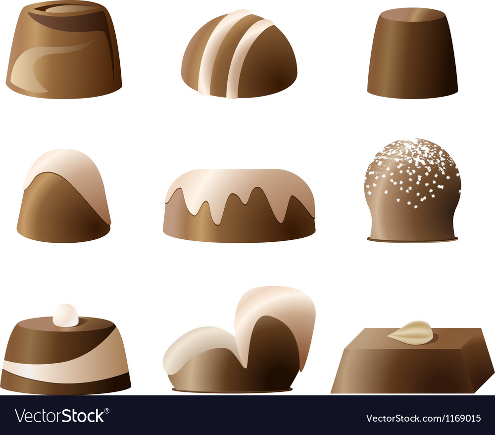 Chocolate bonbon set vector | Price: 1 Credit (USD $1)