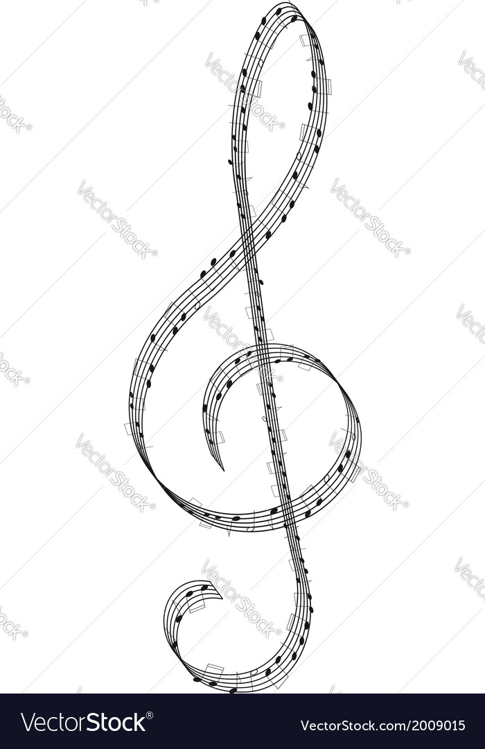 Clef vector | Price: 1 Credit (USD $1)