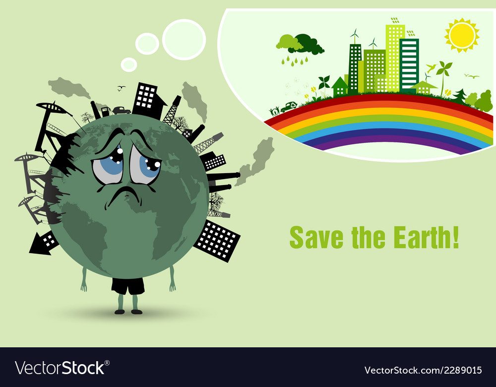Conserve the earth vector | Price: 1 Credit (USD $1)