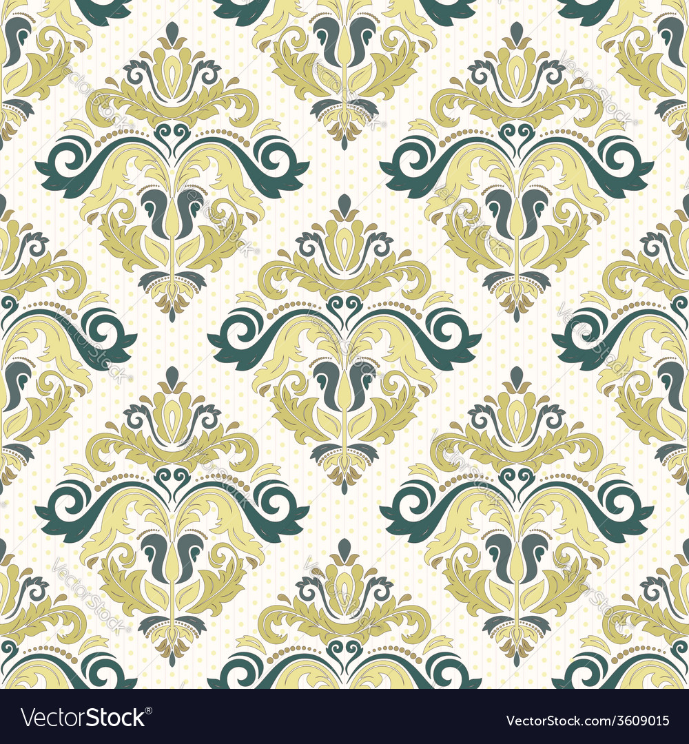 Damask seamless pattern orient coloful background vector | Price: 1 Credit (USD $1)